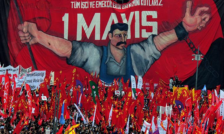 Taksim'de 1 Mayıs